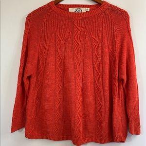 Anthro. - Rosie Neira Orange Linen Blend Sweater
